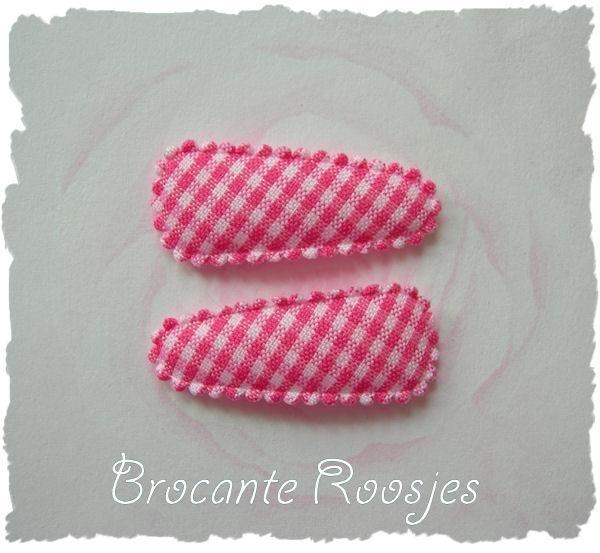 (HOBr-001) 2 hoesjes - baby - ruitje - roze