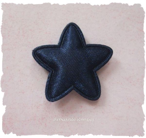 (Ster-024b) Ster - satijn - donkerblauw - 25mm