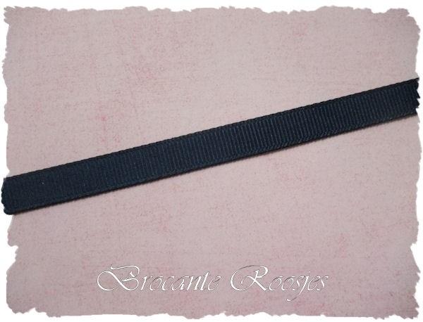 (GG-006) Grosgrainband - donkerblauw - 10mm