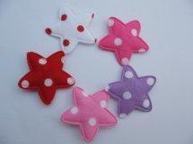 (Ster-028) 5 sterren - polka dot - 5 kleuren - 25mm