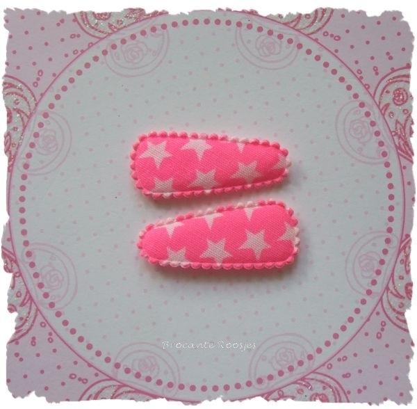 (HOBd-023) 2 hoesjes - baby - sterretjes - fel roze