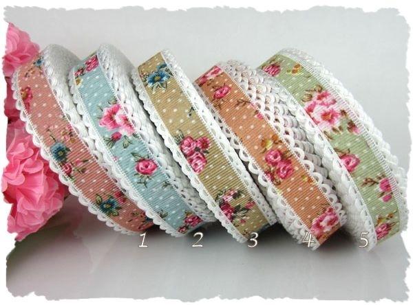 (O-010) Roosjesband met schulprandje - oudroze - 47cm