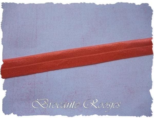 (EB-017) Vouw-elastiek - oranje - 2cm
