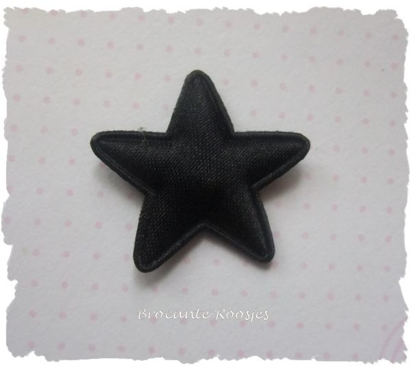 (Ster-023) Ster - satijn - zwart - 25mm
