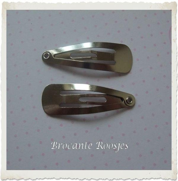 (HAba-001) 2 klik-klak haarspeldjes - baby - 3cm