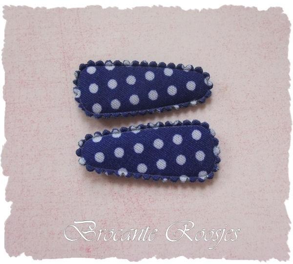 (HOBs-012a) 2 hoesjes - baby - stipje - korenblauw