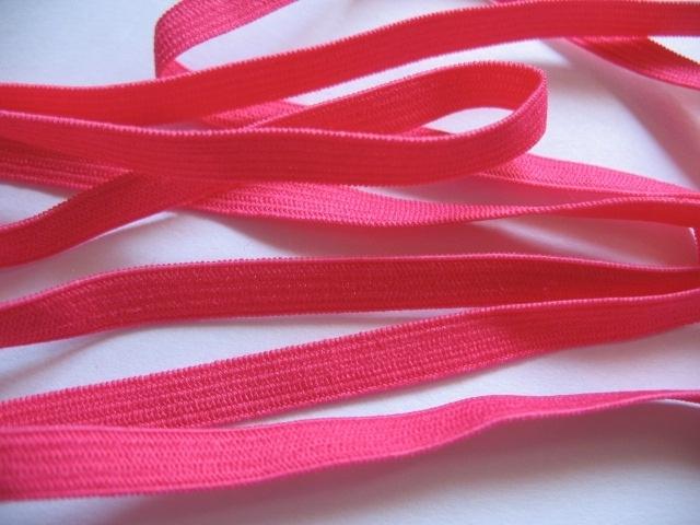 (EB-006) Elastisch band (haarband elastiek) fuchsia - 6mm
