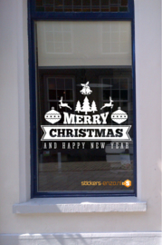 Feestdagen Raamsticker 5 - MERRY CHRISTMAS - 75 X 100 CM - HERBRUIKBAAR!