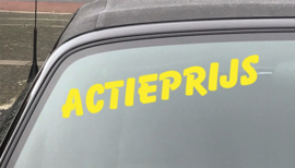 AUTOMOTIVE STICKERS 4 - SET VAN 5X TEKST 'ACTIEPRIJS'
