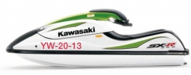 Waterscooter registratienummer sticker - Set van twee stuks