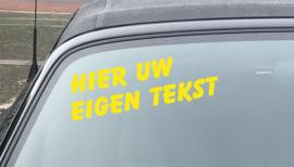 AUTOMOTIVE STICKERS 14 - SET VAN 5X TEKST 'HIER UW EIGEN TEKST'