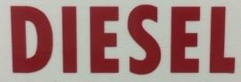 Sticker ( Plaktekst ) Opschrift 'DIESEL'