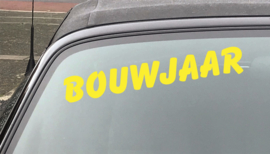AUTOMOTIVE STICKERS 3 - SET VAN 5X TEKST 'BOUWJAAR'