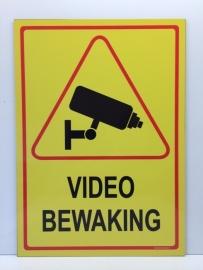 Sticker 'VIDEOBEWAKING' - GROOT - Art.nr. EF092S
