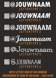 Instagram naamsticker 2 met eigen tekst