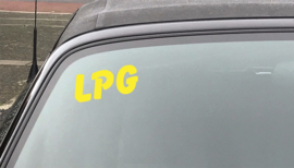 AUTOMOTIVE STICKERS 11 - SET VAN 5X TEKST 'LPG'