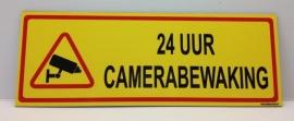 Sticker '24 UUR CAMERABEWAKING' - Art.nr. EF077S