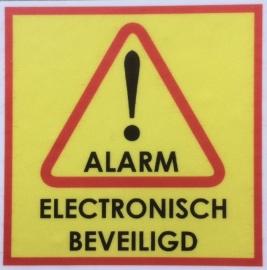 ALARM / ELECTRONISCH BEVEILIGD MINI stickers (raamstickertjes) per 5 stuks art.nr. EF100
