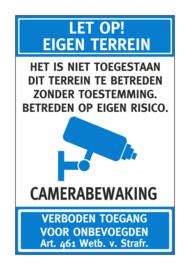 Bord - EIGEN TERREIN - Art. nr. EF106-BLAUW