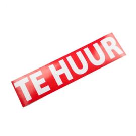 "Sticker opdruk  ""TE HUUR"" 40x10 cm - Art.nr.0013"