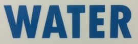 Sticker ( Plaktekst ) Opschrift 'WATER'