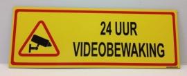 Sticker '24 UUR VIDEOBEWAKING' - Art.nr. EF076S