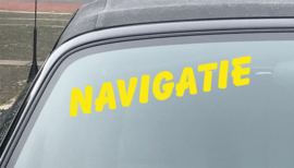 AUTOMOTIVE STICKERS 6- SET VAN 5X TEKST 'NAVIGATIE'