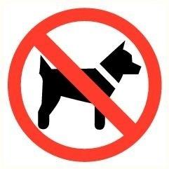 Sticker Honden verboden pictogram Ø 9 cm (art.nr. 3231.08)