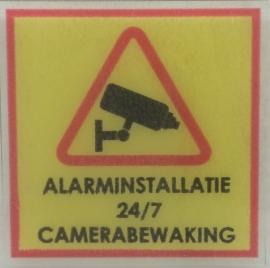 Camerabewaking / alarminstallatie MINI stickers (raamstickertjes) per 5 stuks - art.nr. EF098