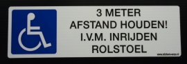 Mindervaliden sticker 2 - 21,5 x 6,5 cm (art.nr. EF009)