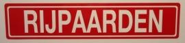"""Sticker opschrift """"RIJPAARDEN"""" - Art.nr. EF059"""