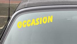 AUTOMOTIVE STICKERS 2 - SET VAN 5X TEKST 'OCCASION'