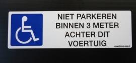 Mindervaliden sticker 1 - 21,5 x 6,5 cm (art.nr. EF008)