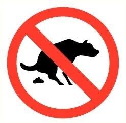 Sticker Honden verboden honden uit te laten pictogram Ø 9 cm (art.nr. 3231.43)