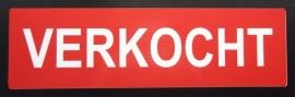 "Sticker opdruk  ""VERKOCHT"" 34x10cm (art.nr. EF022)"