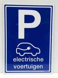 """Kunststof bord met opdruk """"P"""" electrisch laden + pictogram - Art.nr.0069"""