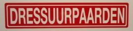 """Sticker opschrift """"DRESSUURPAARDEN"""" - Art.nr. EF060"""