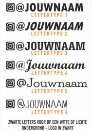Instagram naamsticker 1 met eigen tekst