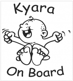 Baby on board sticker 6