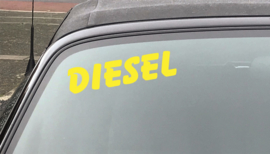 AUTOMOTIVE STICKERS 12 - SET VAN 5X TEKST 'DIESEL'