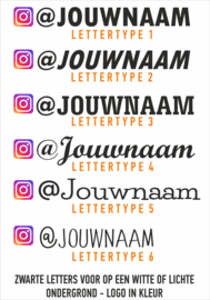 Instagram naamsticker 3 met eigen tekst