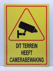 Sticker ' DIT TERREIN HEEFT CAMERABEWAKING' - GROOT - Art.nr. EF087S