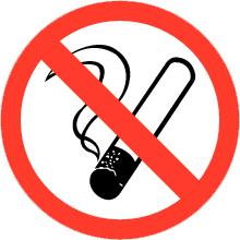 Pictogramsticker Roken verboden ⌀ 5 cm - art.nr. PS0001-5
