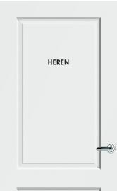 "Sticker (losse letters) opschrift ""HEREN"""