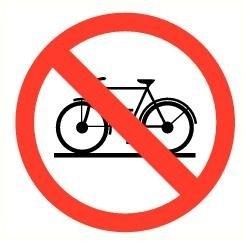 Sticker Verboden voor fietsen pictogram Ø 9cm(art.nr.3231.20)