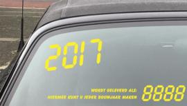 AUTOMOTIVE STICKERS 13 - SET VAN 25X 4 CIJFERS T.B.V. BOUWJAAR