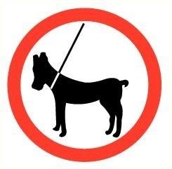 Sticker Honden aan de lijn pictogram Ø 9 cm (art.nr. 3231.26)