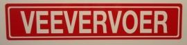 """Sticker opschrift """"VEEVERVOER"""" - Art.nr. EF058"""