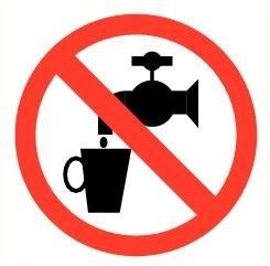 Sticker Geen drinkwater pictogram Ø 5 cm(art.nr.3230.05)