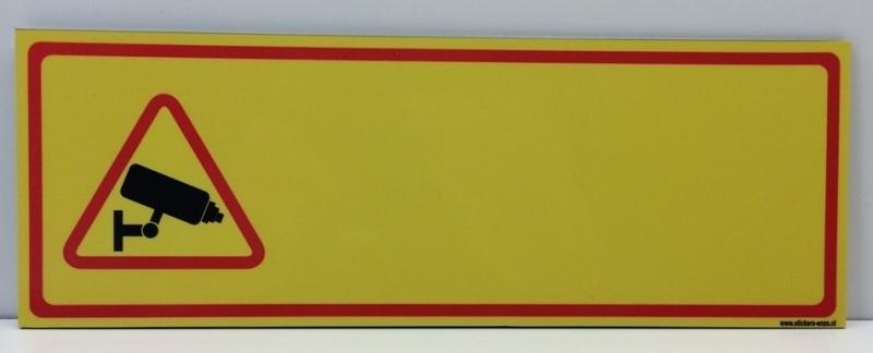 Sticker ' CAMERABEWAKING EIGEN TEKST' - Art.nr. EF083S